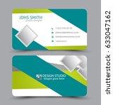 business card. design set... | Shutterstock .eps vector #633047162