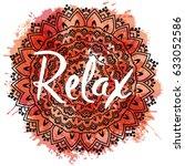 mandala vector illustration... | Shutterstock .eps vector #633052586
