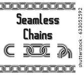 seamless vector chains set....   Shutterstock .eps vector #633052592