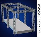 steel truss girder rooftop... | Shutterstock . vector #633054062