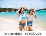 close up summer portrait of... | Shutterstock . vector #633057206