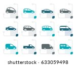 stylized different types of... | Shutterstock .eps vector #633059498