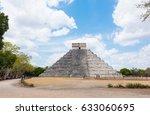 mayan pyramid of kukulkan  also ... | Shutterstock . vector #633060695