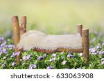 Stock photo newborn faux bed prop for studio photography 633063908