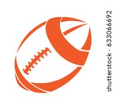 isolated football ball on a...   Shutterstock .eps vector #633066692