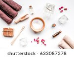 aromatherapy spa set with salt... | Shutterstock . vector #633087278