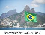 Brazil Flag Flying In The...