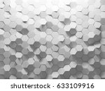 white shaded abstract geometric ... | Shutterstock . vector #633109916