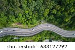 top view car and road on the... | Shutterstock . vector #633127292