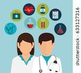 professional doctor avatar... | Shutterstock .eps vector #633127316