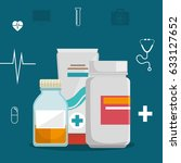 medical healthcare flat icons | Shutterstock .eps vector #633127652