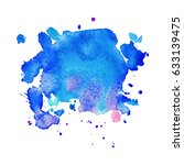 abstract hand drawn watercolor... | Shutterstock .eps vector #633139475