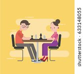 men and women are playing chess | Shutterstock .eps vector #633148055