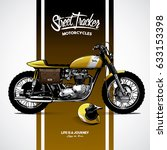 vintage motorcycle poster | Shutterstock .eps vector #633153398