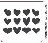 hearts icon  love sign vector