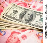 chinese yuan note and u.s.... | Shutterstock . vector #633158666