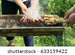 outdoor barbecue | Shutterstock . vector #633159422