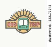 best bus trip badge logo for... | Shutterstock .eps vector #633173348