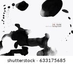 background with ink stains. ink ... | Shutterstock .eps vector #633175685