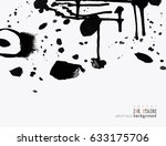 background with ink stains. ink ... | Shutterstock .eps vector #633175706
