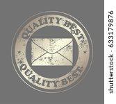 envelope icon. email design. ... | Shutterstock .eps vector #633179876