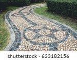 Pebbles Walkway In The Garden ...
