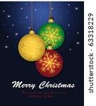 christmas ball color   vector... | Shutterstock .eps vector #63318229