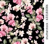 beautiful watercolor pattern... | Shutterstock . vector #633183086