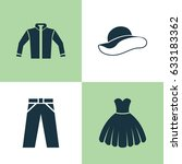 dress icons set. collection of... | Shutterstock .eps vector #633183362