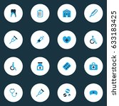 medicine colorful icons set....   Shutterstock .eps vector #633183425