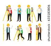 surveyor character design... | Shutterstock .eps vector #633183806