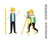 surveyor character design... | Shutterstock .eps vector #633184028