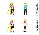 surveyor character design... | Shutterstock .eps vector #633184076