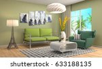 interior living room. 3d... | Shutterstock . vector #633188135