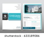 blue flyer cover business... | Shutterstock .eps vector #633189086