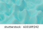 abstract sea pattern  3d... | Shutterstock . vector #633189242