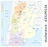 map of the most important wine... | Shutterstock .eps vector #633190136