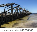 old sea bridge ruins in... | Shutterstock . vector #633200645