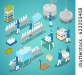 milk factory. automated... | Shutterstock .eps vector #633203408