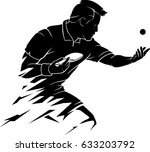 abstract table tennis player... | Shutterstock .eps vector #633203792