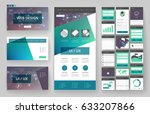website template  one page... | Shutterstock .eps vector #633207866