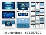 website template  one page... | Shutterstock .eps vector #633207872