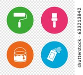 painting roller  brush icons.... | Shutterstock .eps vector #633213842