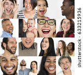 set of diversity people... | Shutterstock . vector #633215936