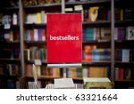 bestsellers area in bookstore   ... | Shutterstock . vector #63321664
