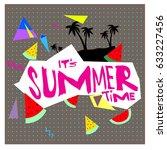summer time vector banner... | Shutterstock .eps vector #633227456