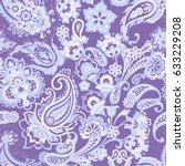 paisley seamless pattern....   Shutterstock .eps vector #633229208