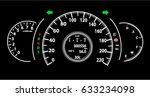modern automobile speedometer... | Shutterstock .eps vector #633234098