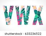 vector alphabet set. retro... | Shutterstock .eps vector #633236522