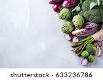 assortment of fresh organic... | Shutterstock . vector #633236786